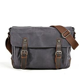 Men's Bags PU Leather Briefcase / Top Handle Bag Zipper for Office  Career Khaki / Green / Dark Gray / Gray