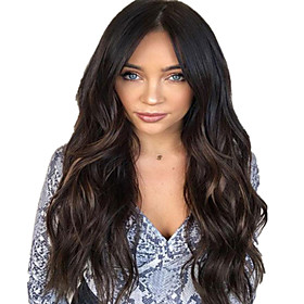 Synthetic Wig Body Wave Middle Part Wig Long Very Long Light Blonde Synthetic Hair 65 inch Women's Fashionable Design Party Middle Part Blonde