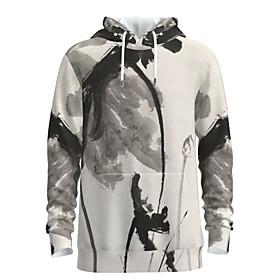 Men's Weekend Pullover Hoodie Sweatshirt Graphic Chinese Style Hooded Casual Streetwear Hoodies Sweatshirts  Long Sleeve Beige