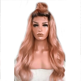 Synthetic Wig Curly Deep Wave Pixie Cut Wig Long PinkRed Synthetic Hair Women's Fashionable Design Easy to Carry Pink