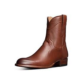 Men's Boots Cowboy Western Boots Work Boots Daily PU Light Brown / Dark Brown / Black Summer
