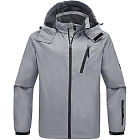 men's lightweight sportswear breathable windbreaker outdoors grey xl