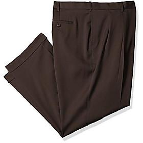 men's big amp; tall pleated stretch crosshatch dress pant, vintage indigo, 48w x l