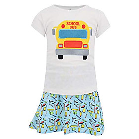 girls back to school bus skirt set outfit (3t) Listing Date:09/15/2020