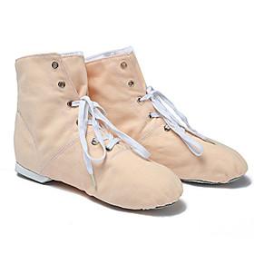 Women's Dance Shoes Ballet Shoes / Modern Shoes / Practice Trainning Dance Shoes Flat Flat Heel Camel / Pink / Green / Performance