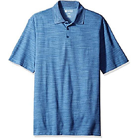 men's big and tall short sleeve polyester knit polo, ink blue, 2x