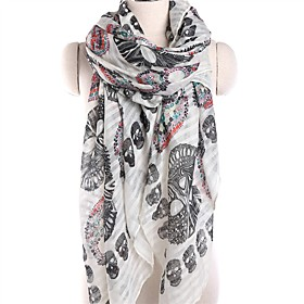 Women's Active Rectangle Scarf - Skull Washable