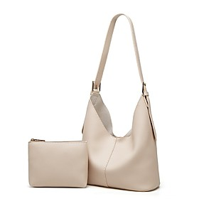 Women's Bags PU Leather / Nappa Leather Top Handle Bag Zipper for Daily / Date White / Black / Khaki