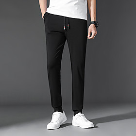 Men's Basic Daily Jogger Pants Solid Colored Sports Black M L XL