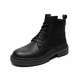 Men's Boots Casual Daily PU Booties / Ankle Boots Black Fall