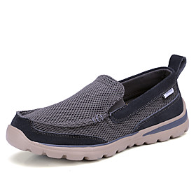 Men's Loafers  Slip-Ons Business / Classic / Casual Daily Outdoor Mesh Breathable Non-slipping Wear Proof Black / Dark Blue / Gray Spring / Fall