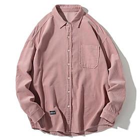 Men's Jacket Regular Solid Colored Daily Basic Plus Size Long Sleeve Wine Khaki Gray US36 / UK36 / EU44 US38 / UK38 / EU46 US42 / UK42 / EU50