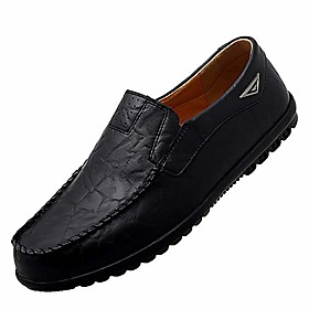 men's casual leather fashion slip-on loafers shoes brown c 9/43