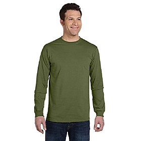 5.5 oz., 100% organic cotton classic long-sleeve t-shirt (ec1500)- olive,xx-large