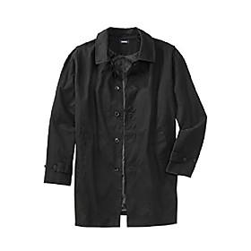 men's big amp; tall water-resistant trench coat - tall - l, black