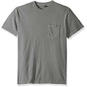 butamp; #39;s adult short sleeve pocket tee, style 6030, grey, x-large