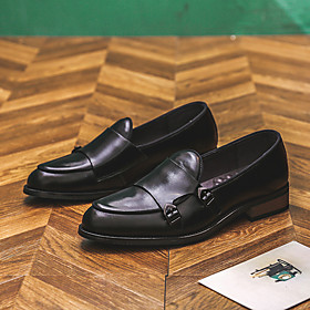 Men's Loafers  Slip-Ons Casual Daily PU Wear Proof Black / Red / Black / Yellow Spring / Fall