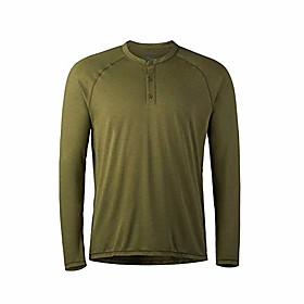 butamp; #39;s hanger work insect protective long sleeved henley shirt, covert, large