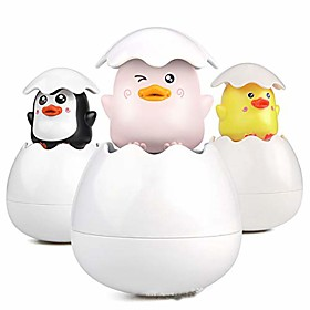 baby bath toys cute duck penguin bathroom floating sprinkle egg shower water toys bathtub toys children's bath toys(3 colors) Listing Date:09/18/2020