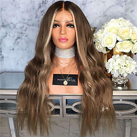 Synthetic Wig Curly Body Wave Middle Part Wig Long Dark Brown Synthetic Hair 26 inch Women's Fashionable Design Fluffy Dark Brown