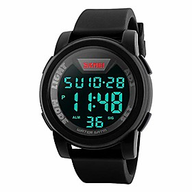 men's digital sports watch led screen large face military watches, waterproof luminous stopwatch alarm simple army watch (camouflage army green)
