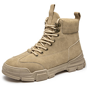 Men's Boots Classic / Vintage / British Outdoor Office  Career Microfiber Non-slipping Wear Proof Black / Beige / Gray Fall / Winter