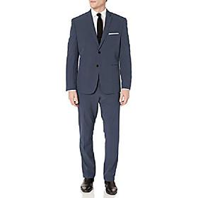 butamp; #39;s slim fit machine washable tech suit, charcoal solid, 46 long