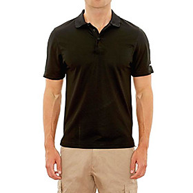 men's athletic performance sport polo, black, small'
