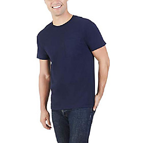 men's 4-pack of pocket t-shirts, athletic heather, l (pack of 4)