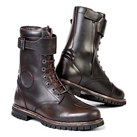 Men's Boots Work Boots Roman Shoes Daily PU Black / Coffee Fall / Winter