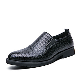 Men's Loafers  Slip-Ons Casual Daily Walking Shoes PU Wear Proof Black / Brown Spring / Fall