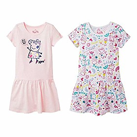 girls t-shirt toddler dresses for girls 2 pack pink/white 5t Listing Date:09/19/2020