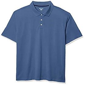 men's big amp; tall quick-dry golf polo shirt fit by dxl shirt, -blue, 2x