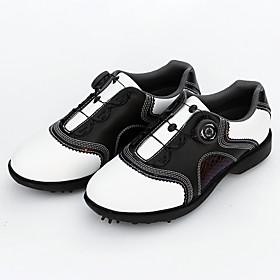 Men's Golf Shoes Waterproof Shock Absorption Breathable Anti-Slip Golf Spring, Fall, Winter, Summer