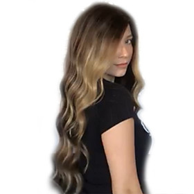 Synthetic Wig Curly Water Wave Pixie Cut Wig Long Light Brown Synthetic Hair Women's Fashionable Design Party Exquisite Light Brown