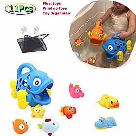 bath toys set for toddlers, floating toys for baby, wind up toys for bathtub game, bath toy organizer Listing Date:09/19/2020