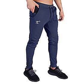 men's jogger pants slim fit,tapered sweatpants for training, running,workout with elastic bottom and zipper pockets blue