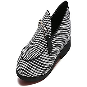 men's modern plaid driving shoes tuxedo slip on loafers british round toe moccasin (8.5, white)
