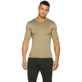 men's coldgear infrared tactical short sleeve, federal tan /none, small