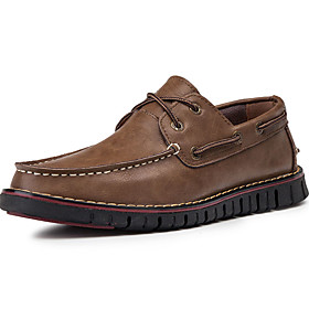 Men's Loafers  Slip-Ons Casual Daily PU Wine / Black / Khaki Spring / Fall