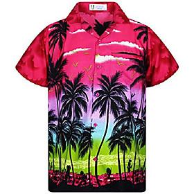 funky hawaiian shirt, shortsleeve, beach, pink, xs