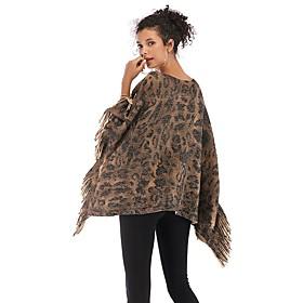 Women's Active Rectangle Scarf - Leopard Washable