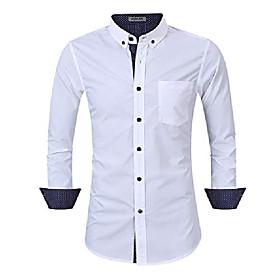 men's casual slim fit short sleeve button down business shirt cotton dress shirts (s, white-1)