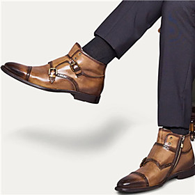 Men's Boots Work Boots Daily PU Non-slipping Dark Grey / Dark Brown / Purple Fall