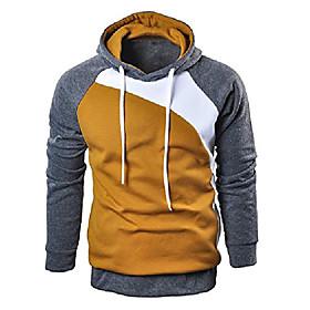 men's casual pullover long sleeve hoodies outwear