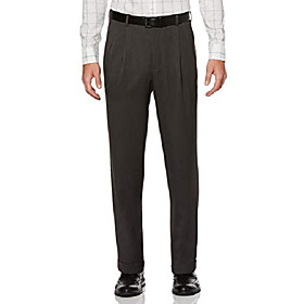 grey textured double pleated new men's finished dress pants (38w x 29l)