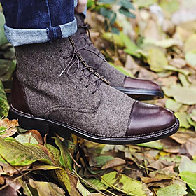 Men's Boots Work Boots Daily PU Non-slipping Dark Grey / Black / Yellow Fall