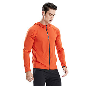 Men's Hoodie Sweatshirt Color Block Standing Collar Spandex Solid Color Letter  Number Sport Athleisure Hoodie Long Sleeve Quick Dry Moisture Wicking Sweat Out