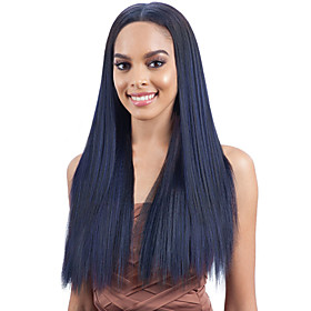 Synthetic Wig kinky Straight Middle Part Wig Very Long Blue Synthetic Hair Women's Fashionable Design Cosplay Exquisite Blue