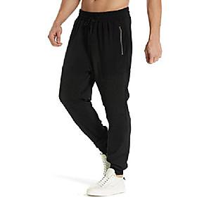 men's jogger sweatpants running active pants sports tapered trousers slim fit tracksuit b-black l